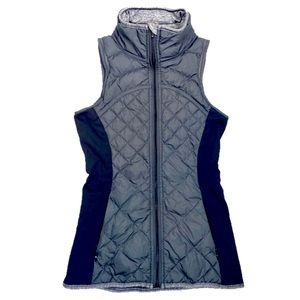 Lululemon Gray Black Quilted Puffer Vest